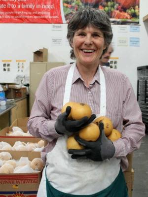 A Second Harvest food bank volunteer