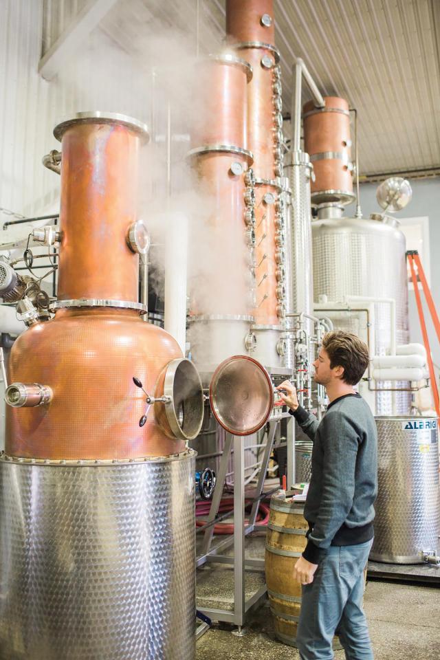 Ontario distilleries   Geoff Dillon in his distillery