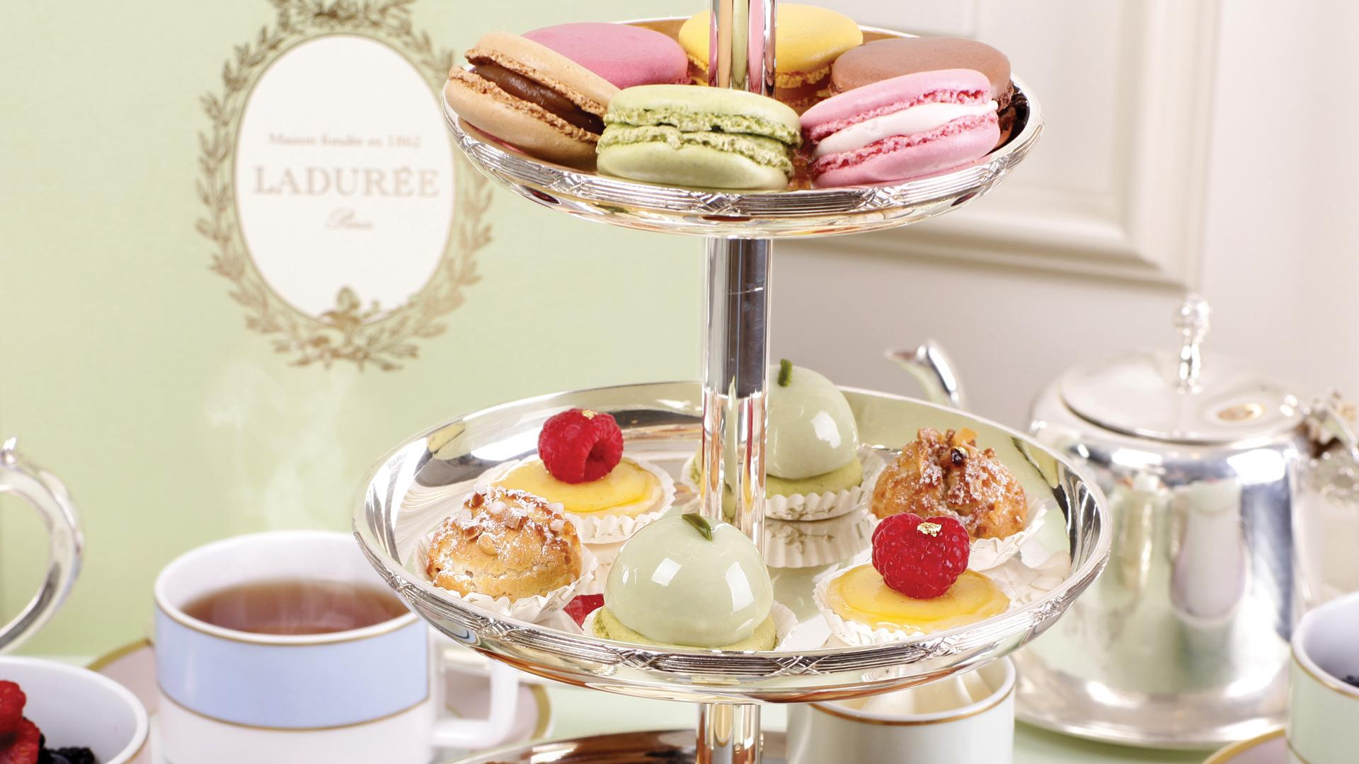 Ladurée afternoon tea service