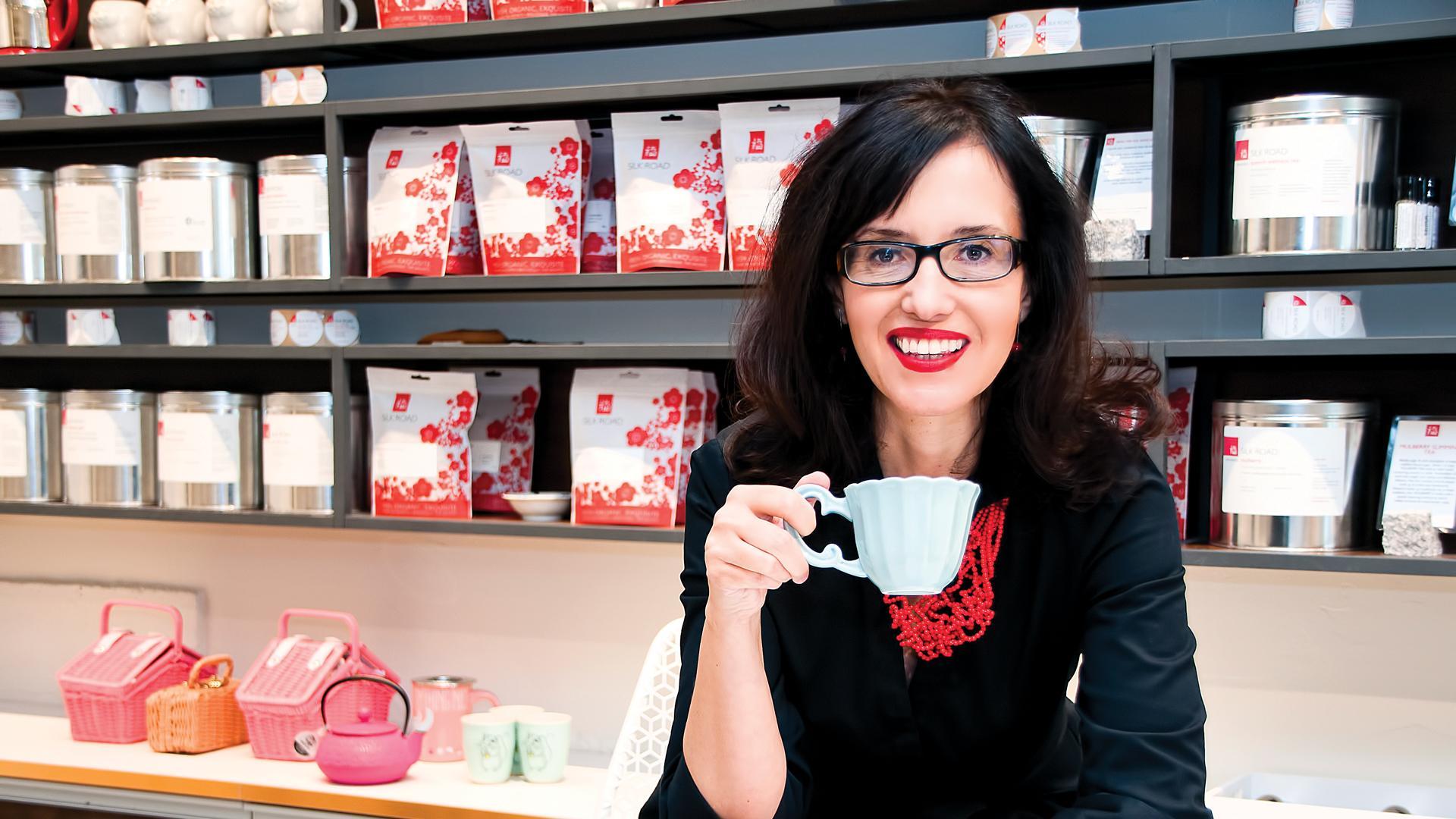 Where to have high tea in Victoria, B.C.; Daniela Cubelic of Silk Road Tea