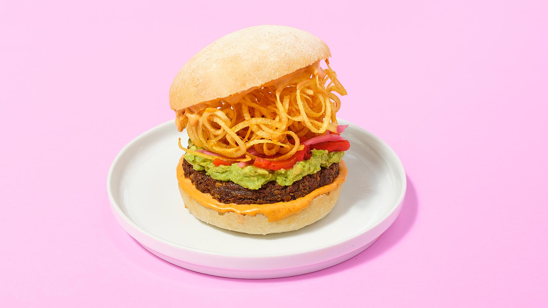 SweetChops Big Chops burger | Best veggie burgers in Toronto