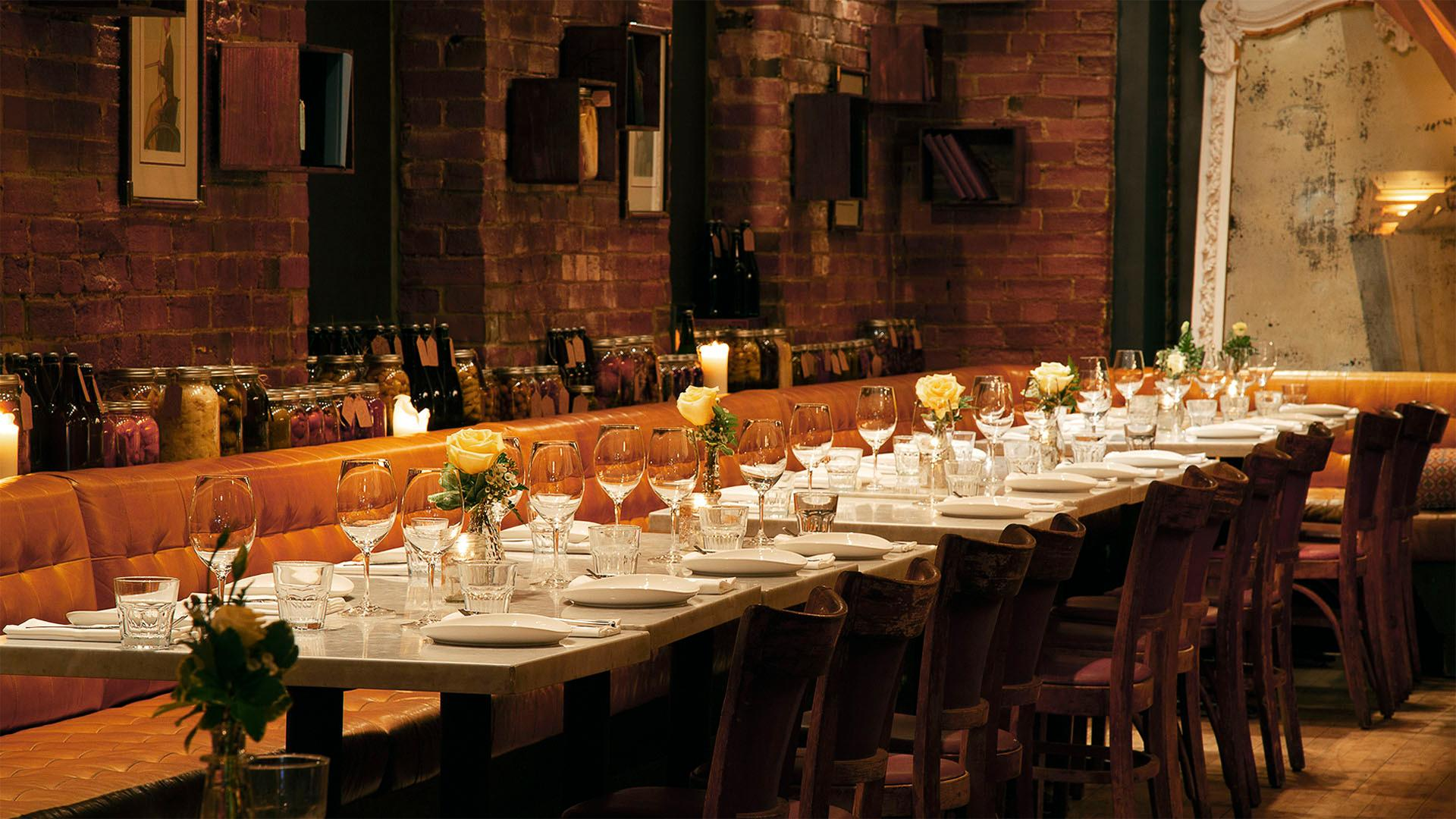 Best farm-to-table restaurants Toronto | A table set for dinner at Marben