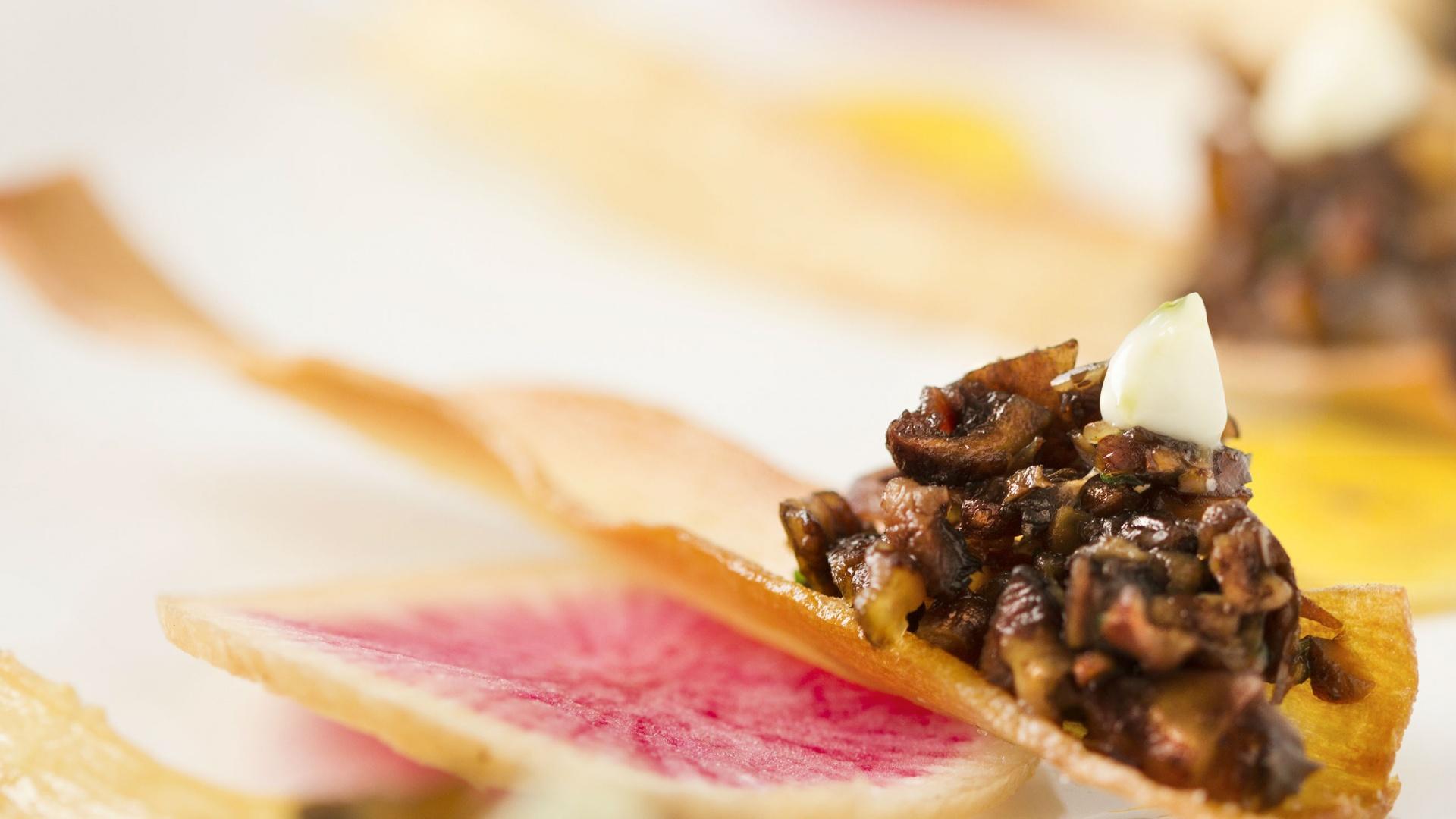Make This: Treeline Catering's Mushroom Duxelle with Malt Aioli