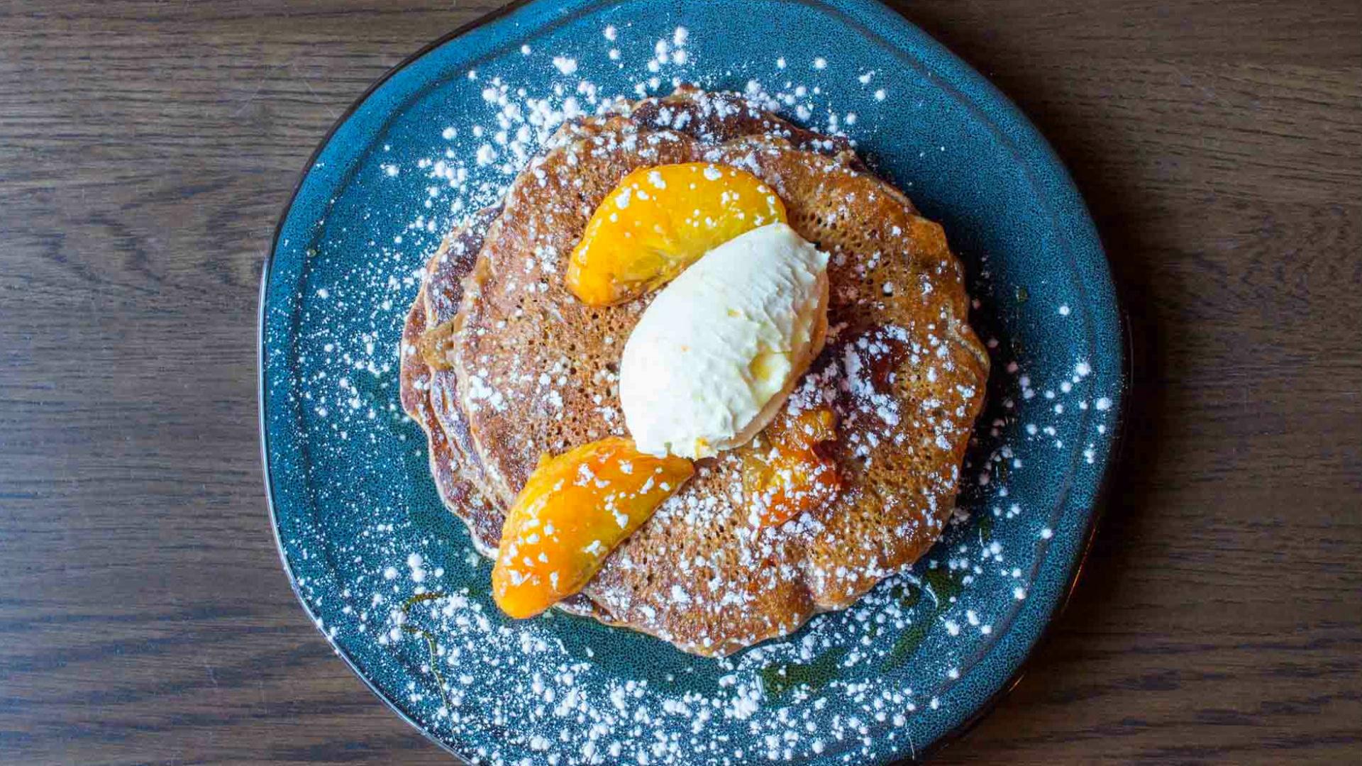 Liberty Commons's Chocolate Milk & Stout Pancakes