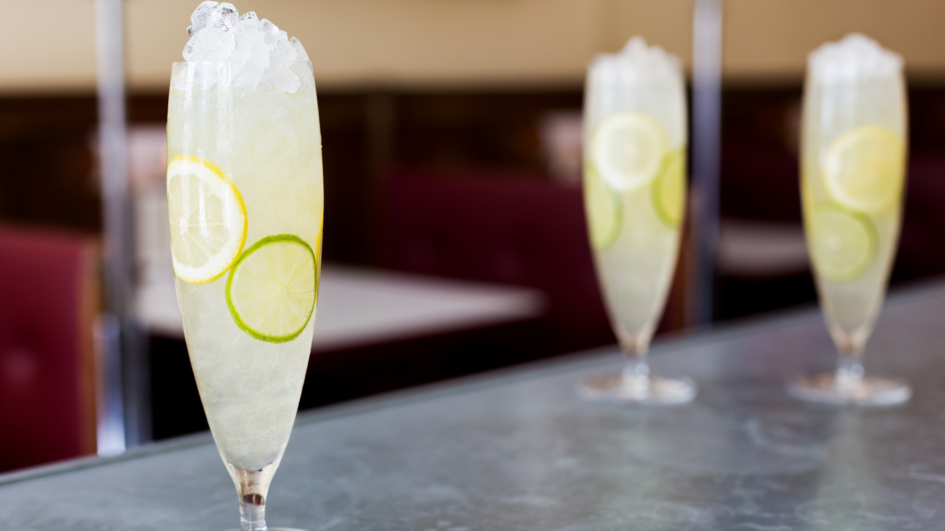 A simple citrus and sparkling wine cocktail recipe.