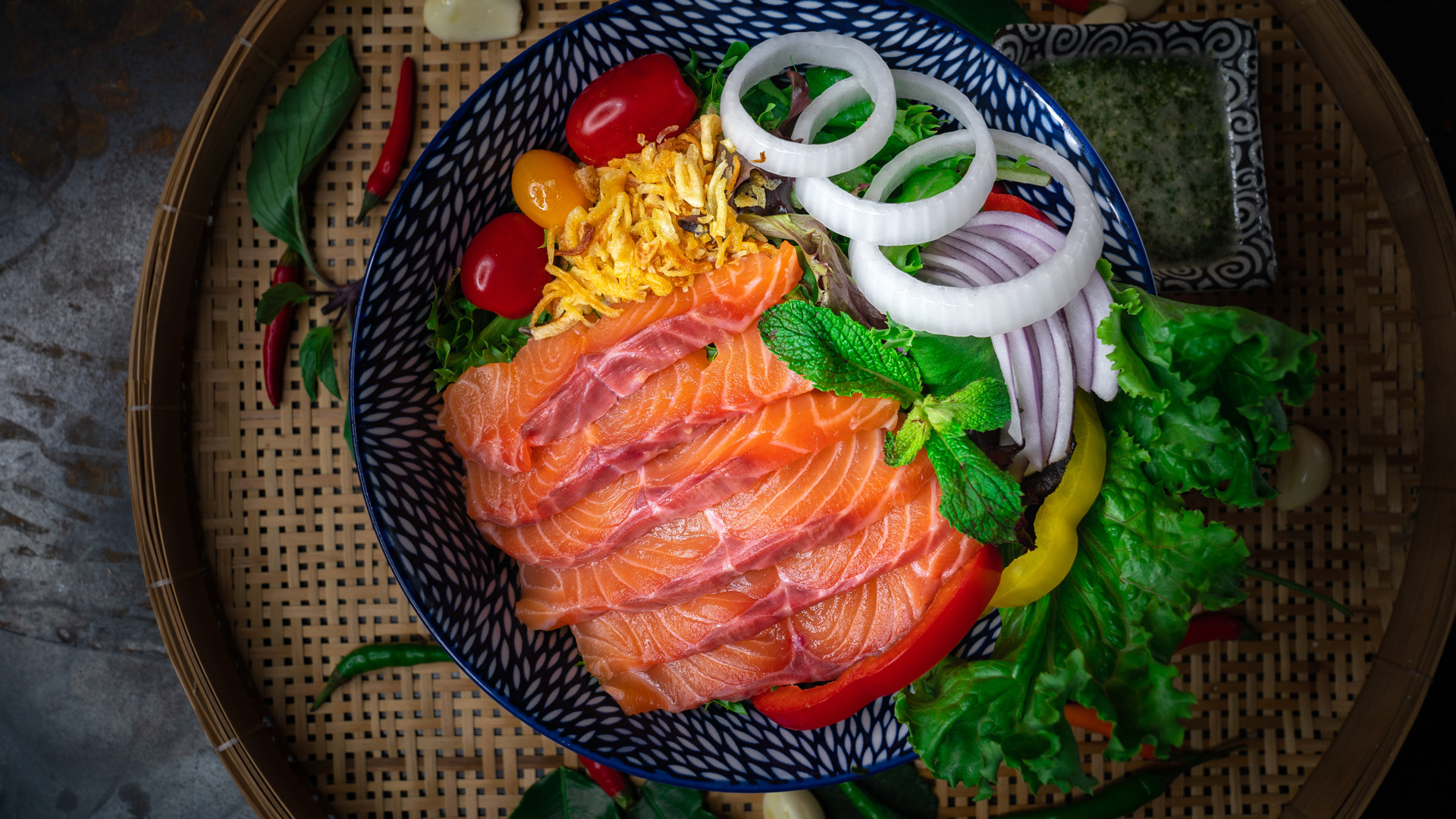 The best new restaurants in Toronto | Salmon Lui Suan Salad available for takeout and dine-in at Maya Bay