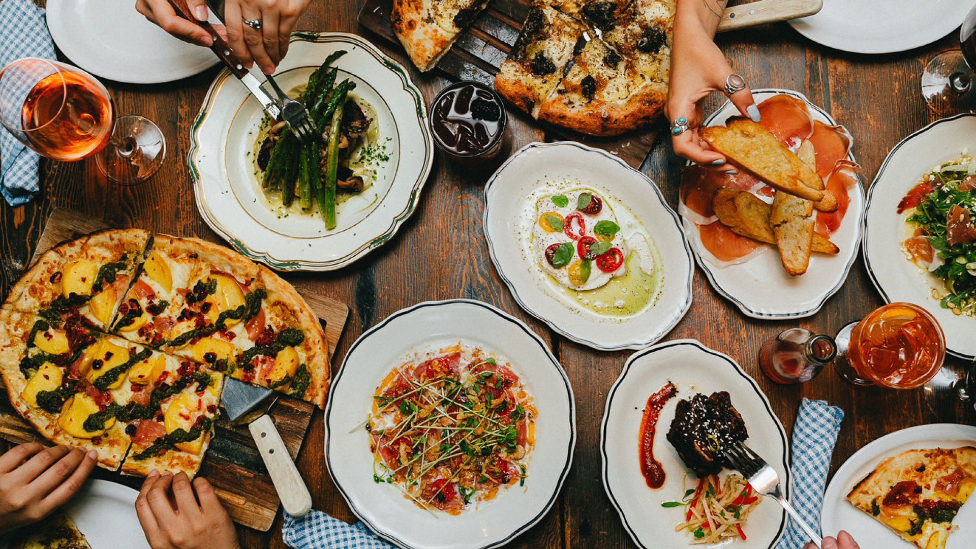 The best pizza in Toronto | A spread of pizza and other dishes at the Parlour