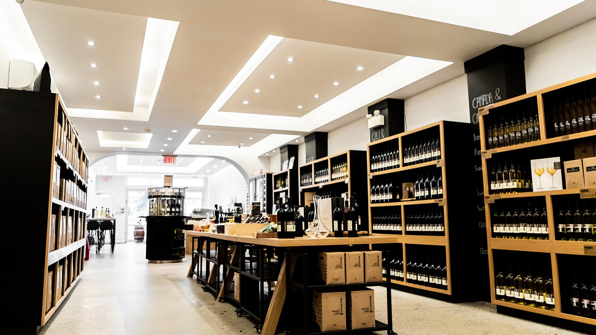 Downtown Winery Toronto | Inside the bottle shop