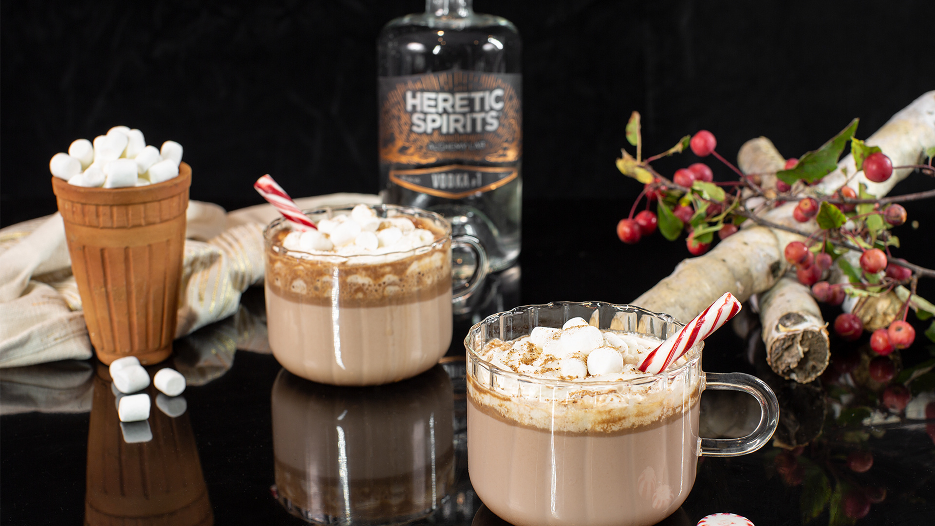 Heretic Spirits Vodka #1   Heretic Holiday Hooch cocktail