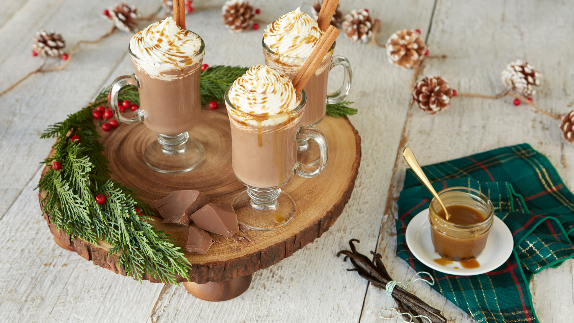 Chef Lynn Crawford's spiced rum chocolate caramel eggnog