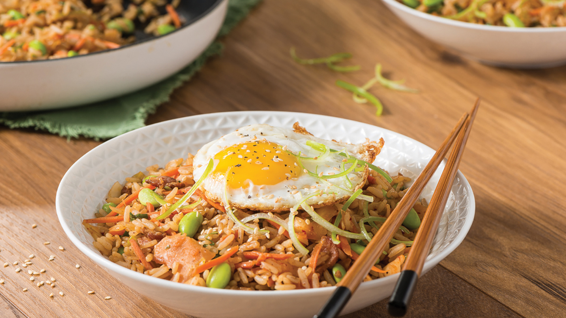 Honey garlic kimchi fried rice with VH Sauces recipe