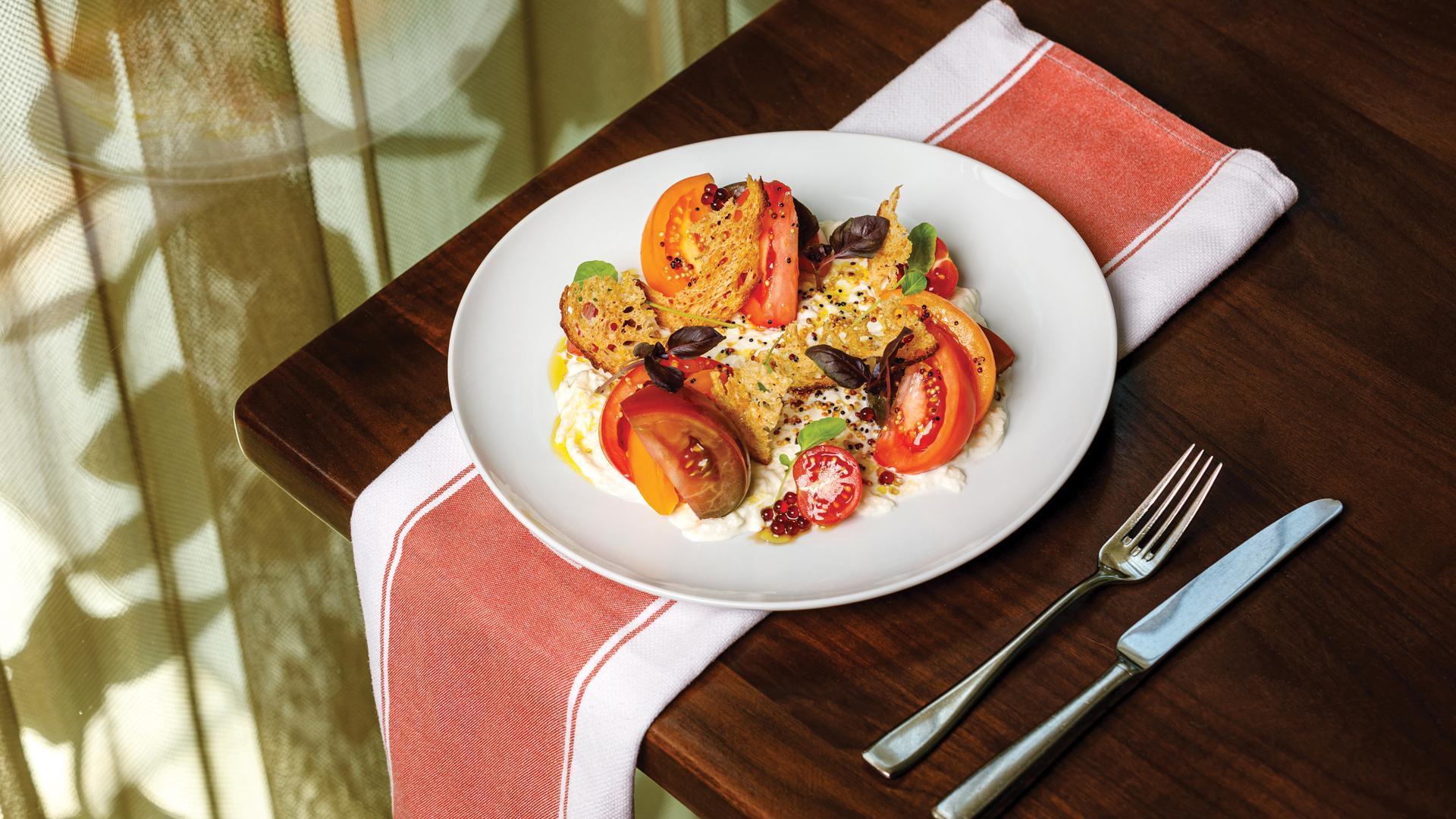 Picnic recipes: Café Boulud's Stracciatella  Tomato Salad
