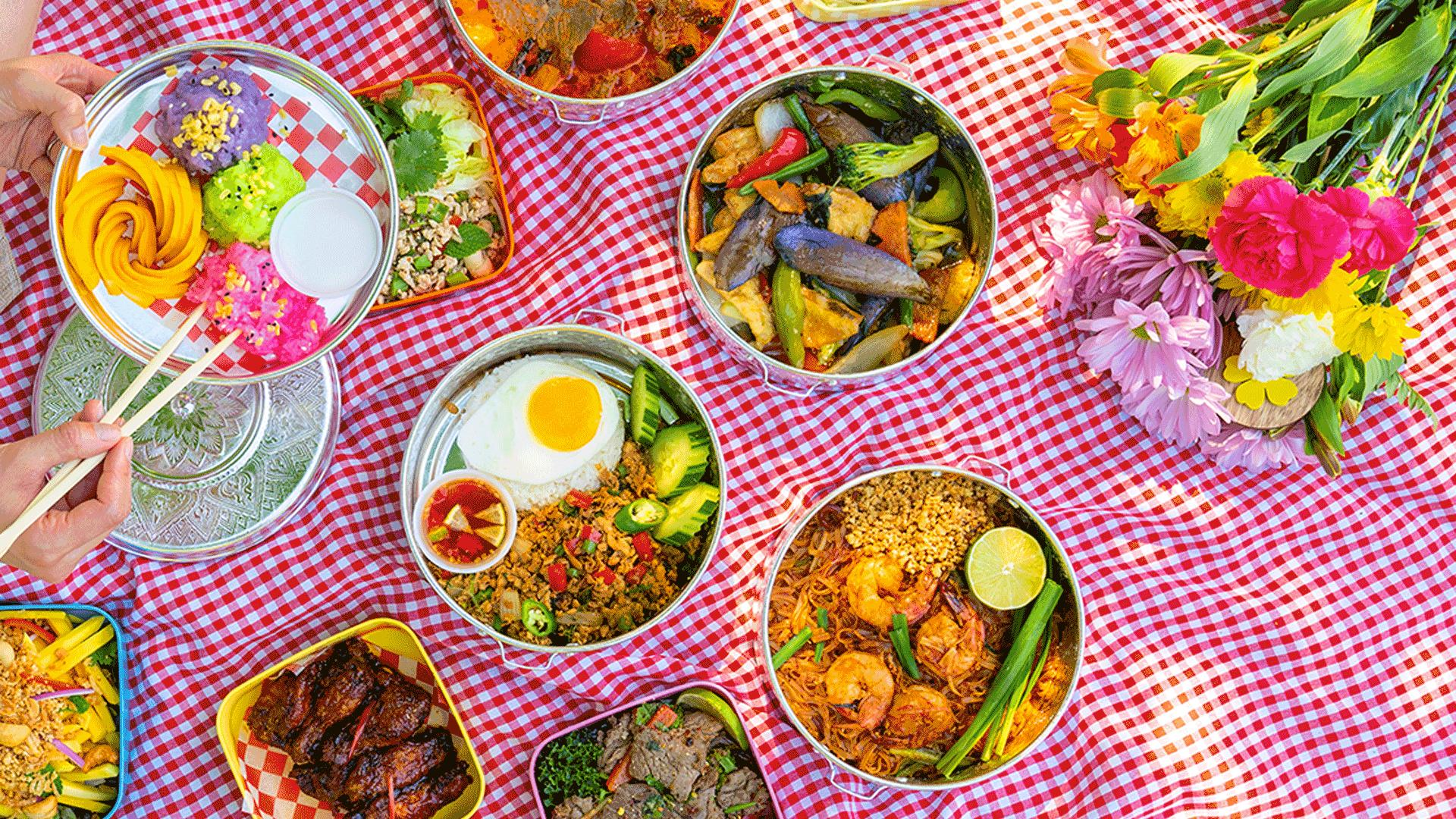 Must-try picnic baskets from Toronto restaurants   Assorted picnic dishes from Jatujak