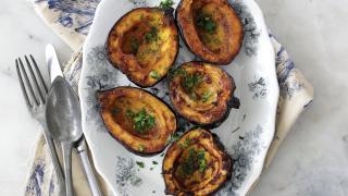 Spiced acorn squash recipe from The Jewish Food Hero Cookbook