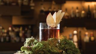Applehattan cocktail recipe from the Shangri-La hotel in Toronto