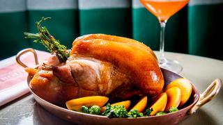 Café Boulud hibiscus- and honey-glazed duck recipe