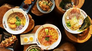 The best ramen in Toronto | A spread of ramen and other dishes at Midori