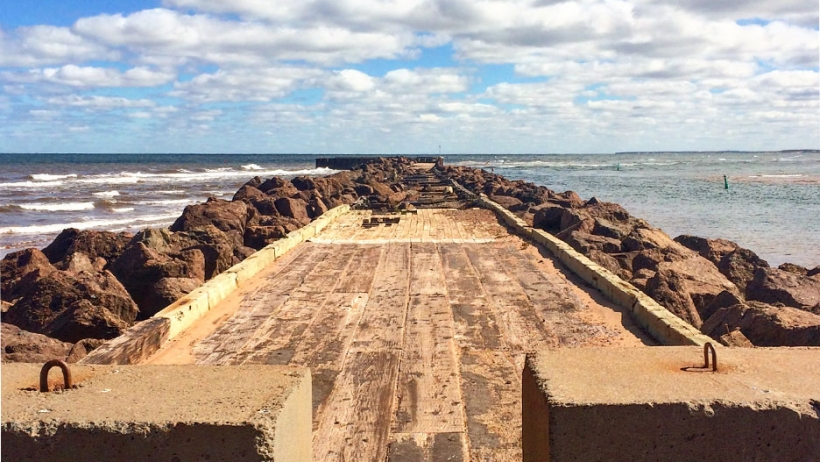 An old pier on the north of PEI