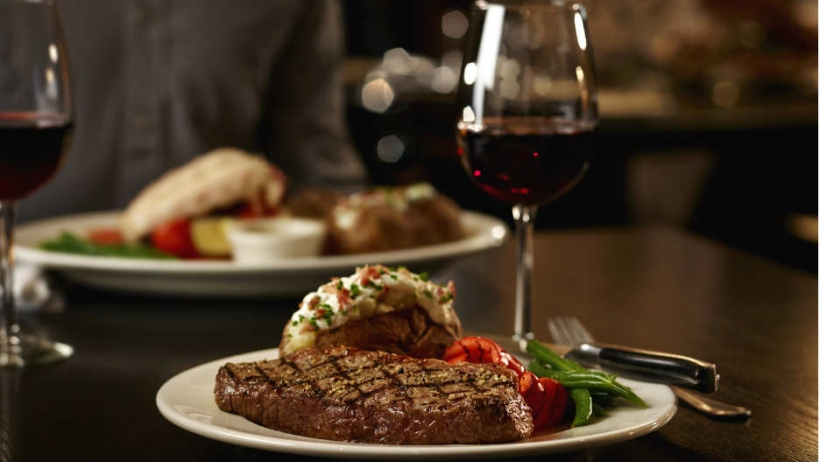 The Keg Steak and Red Wine