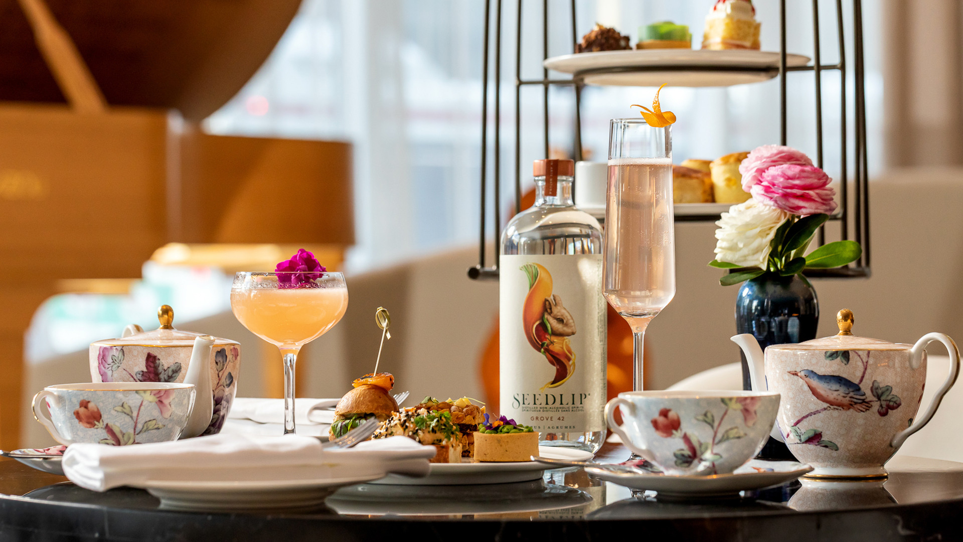 Seedlip afternoon tea at the Shangri-La Hotel Toronto