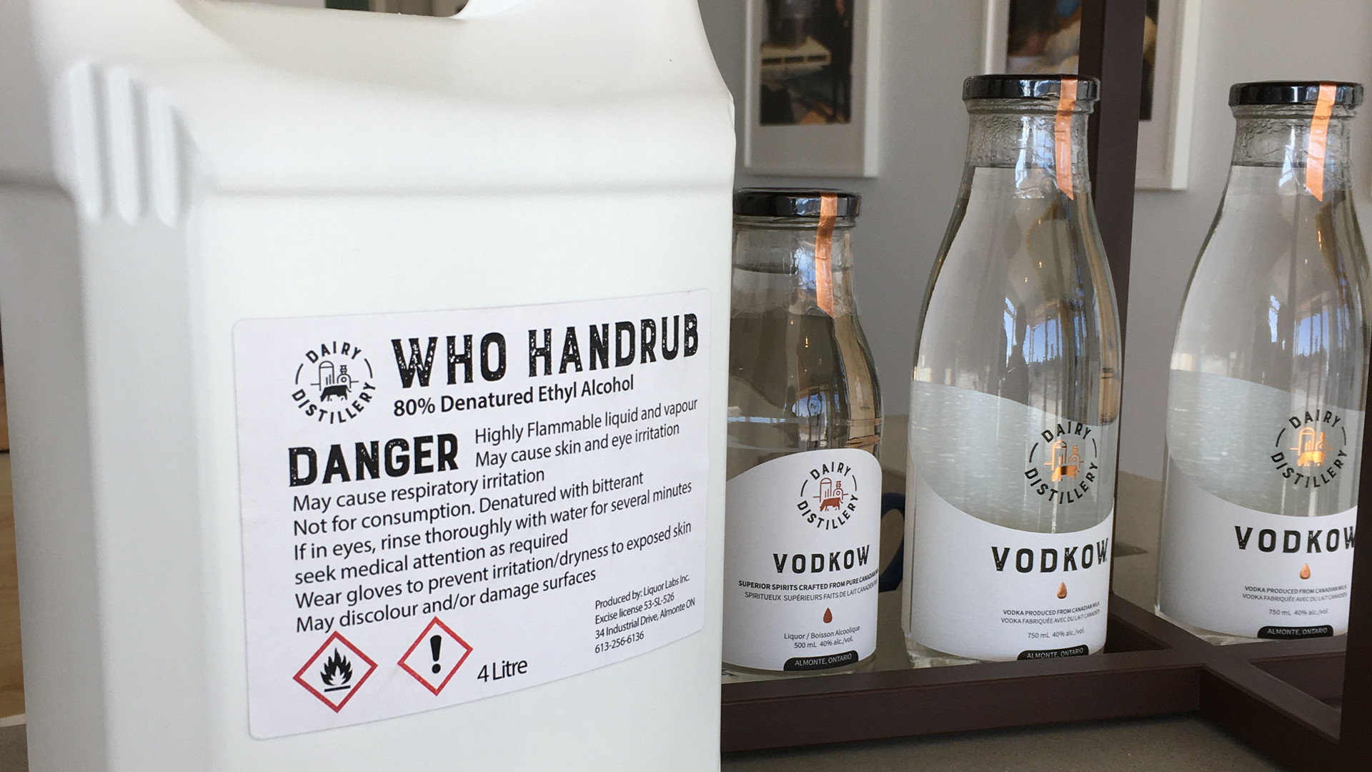 Vodkow, local, sustainable vodka distillery