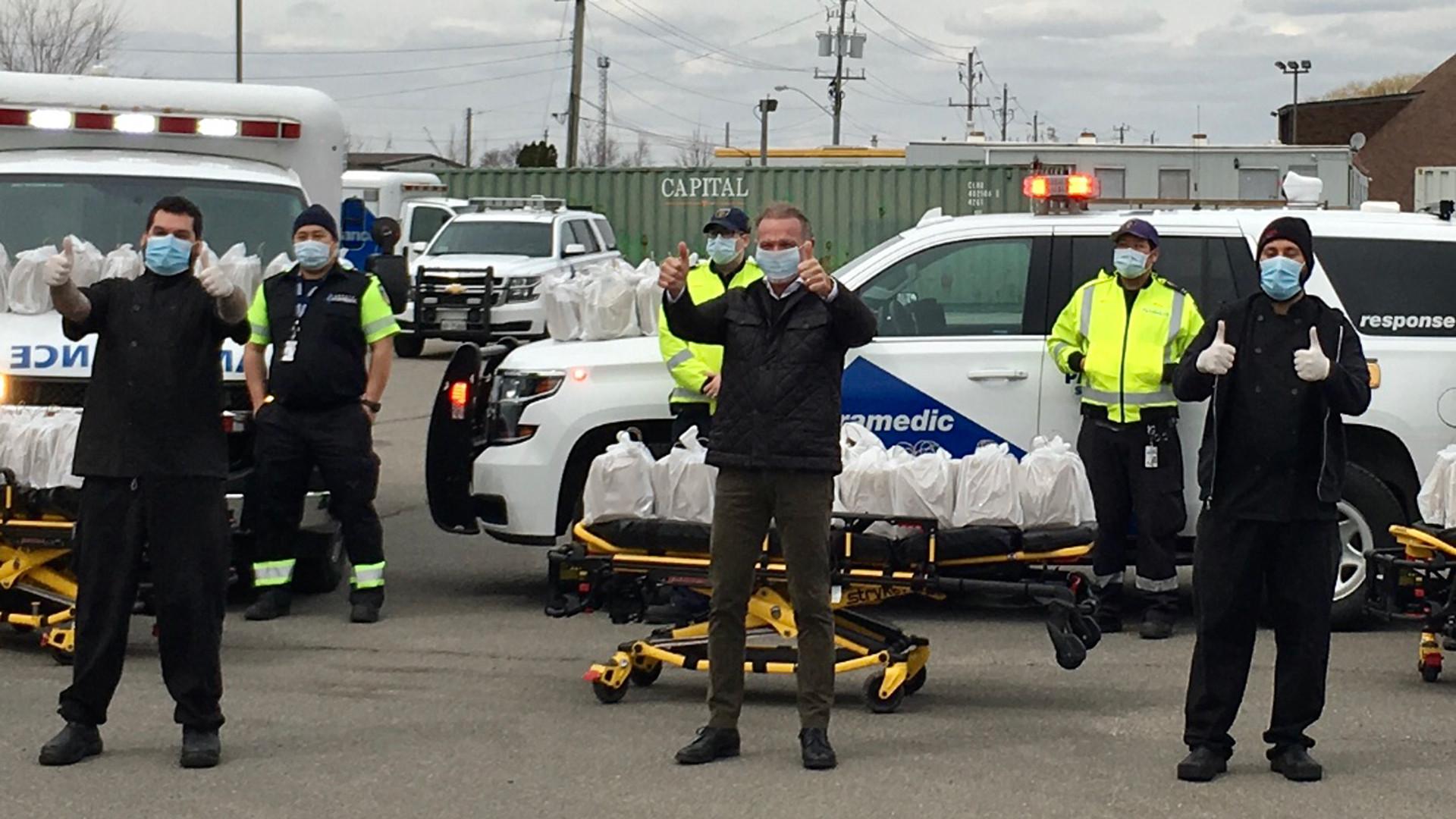 Mark McEwan delivers food to paramedics amid COVID-19 crisis