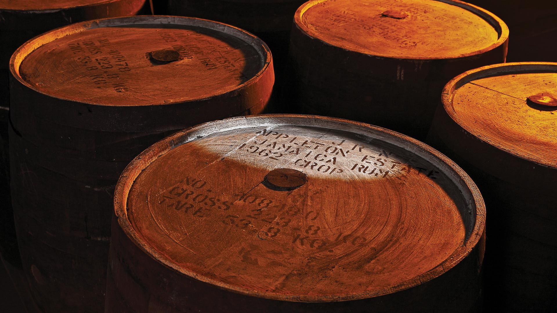 Appleton Estate Rum: rum barrels