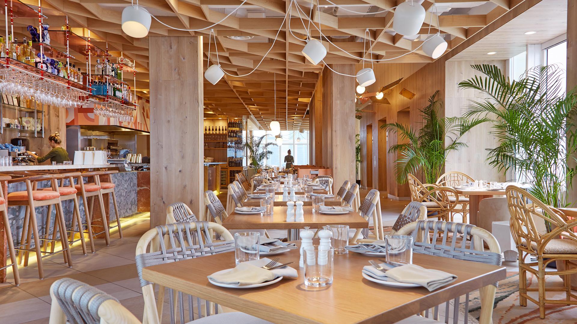 The Bisha Hotel Toronto | The interior of KŌST rooftop restaurant
