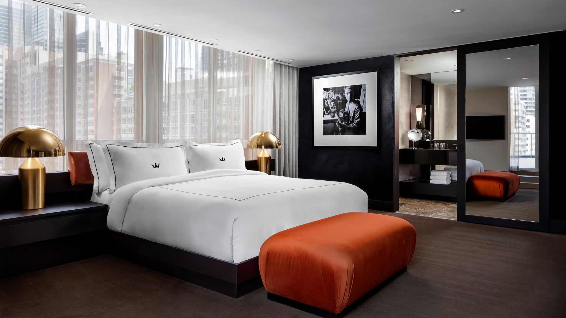 A guestroom at the Bisha Hotel Toronto