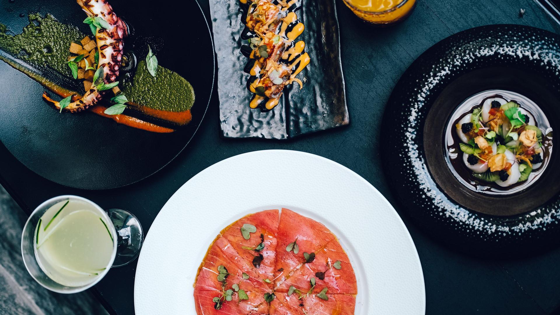 The Bisha Hotel Toronto | Assorted Japanese dishes at Akira Back