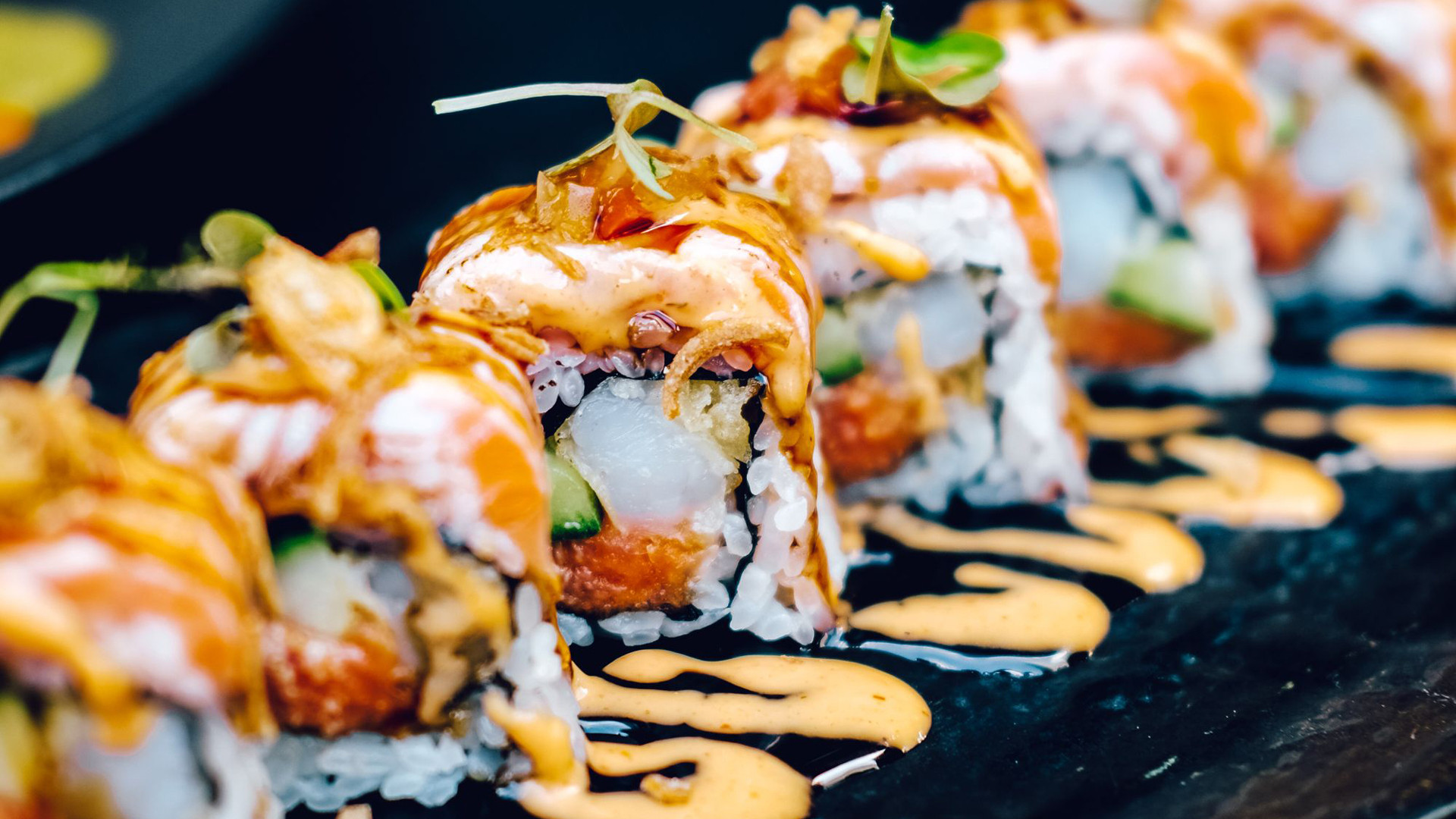 The Bisha Hotel Toronto | Maki roll sushi at Akira Back Japanese restaurant