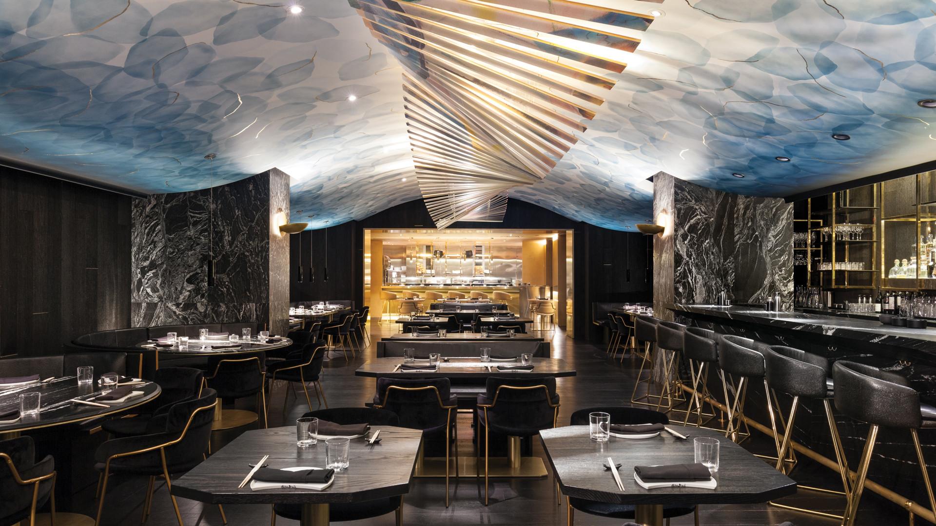 The Bisha Hotel | The interior of Japanese restaurant Akira Back