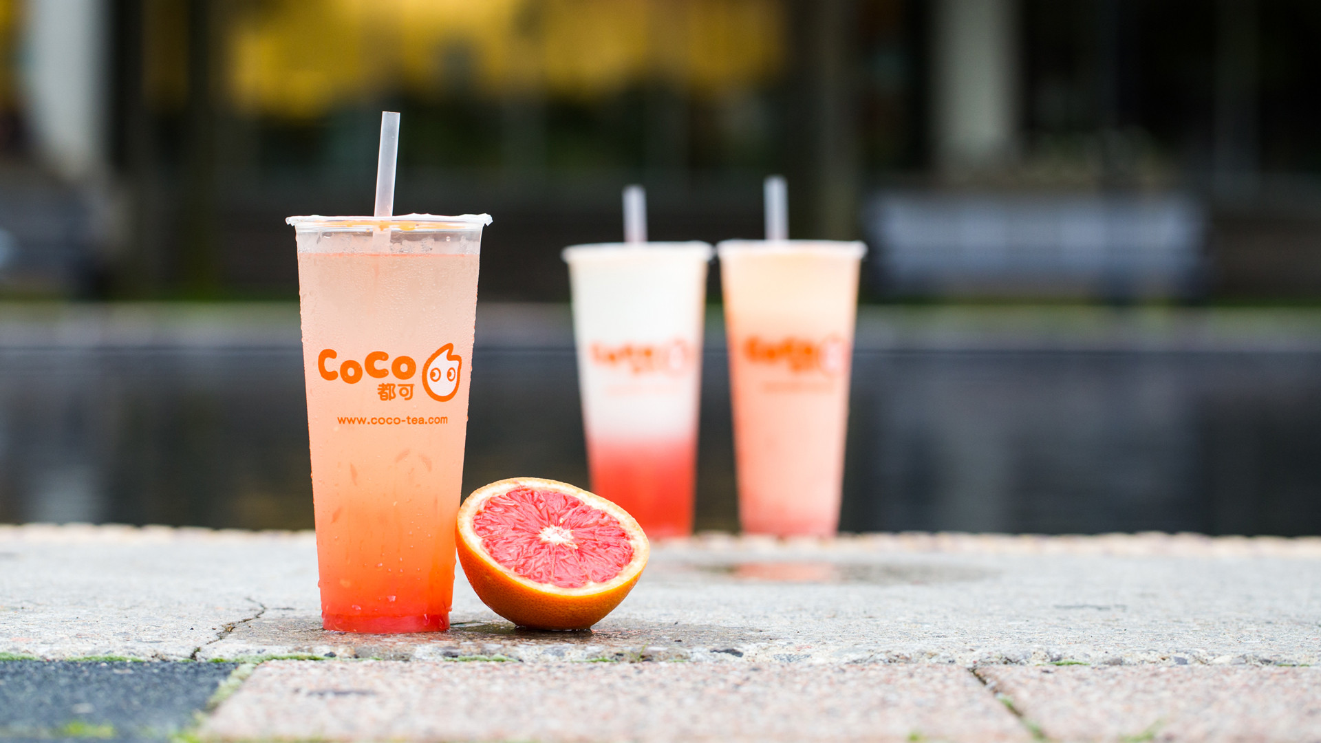 The best bubble tea in Toronto | grapefruit bubble tea from CoCo