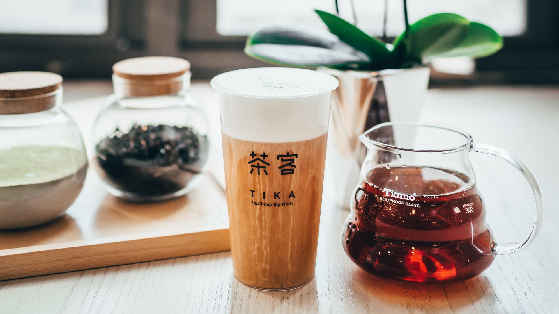 The best bubble tea in Toronto   a milk tea from Tika Tea House