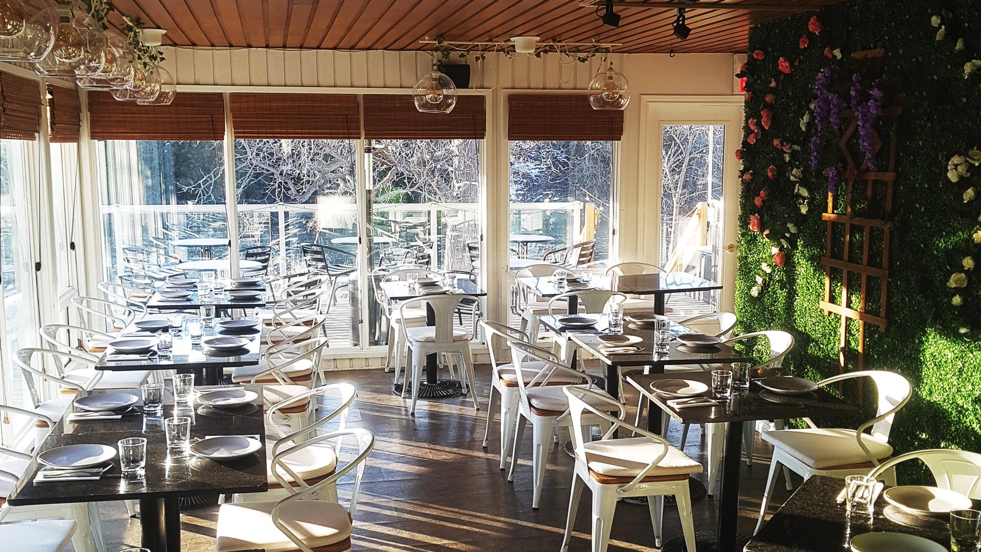 The interior of La Fontana, one of the best Elora restaurants