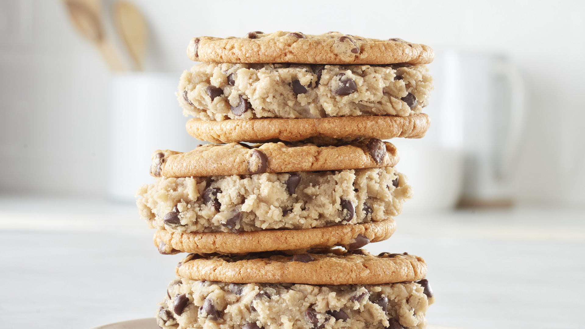 Cookie dough sandwiches with Pillsbury Safe To Eat Raw Cookie Dough
