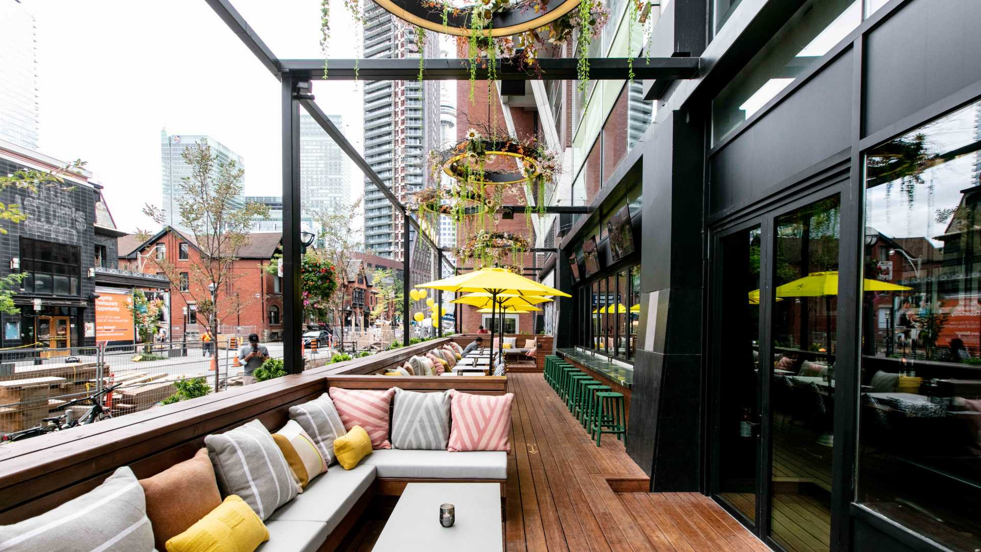 The patio at Marked, a new South American restaurant in Toronto