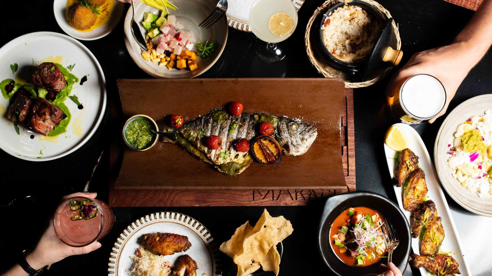 A spread at Marked, a new South American restaurant in Toronto
