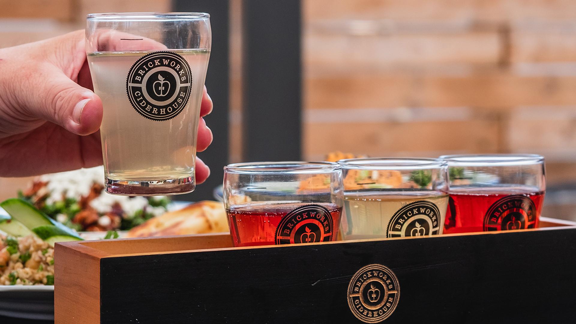 Brickworks Ciderhouse Toronto craft cider | A flight of Brickworks Cider