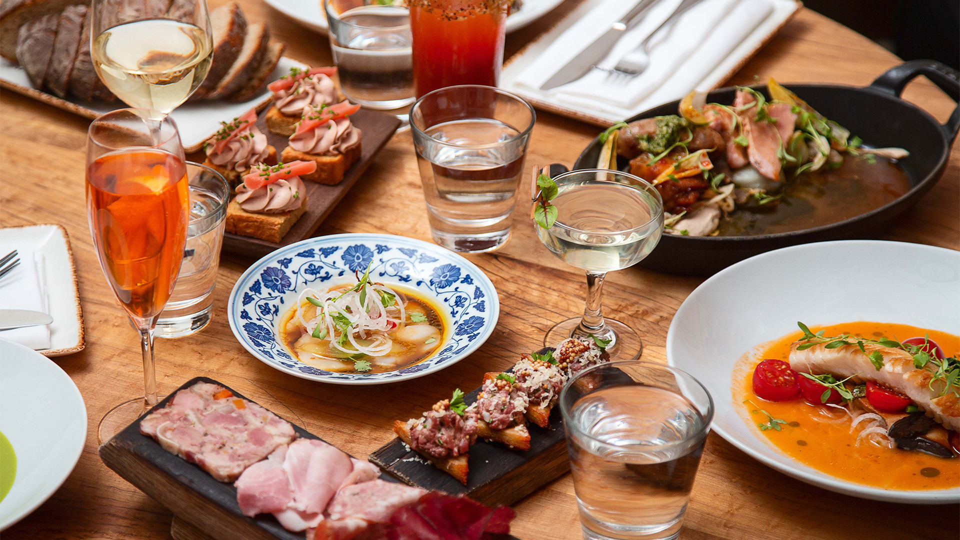 Best farm-to-table restaurants Toronto | A selection of dishes Richmond Station