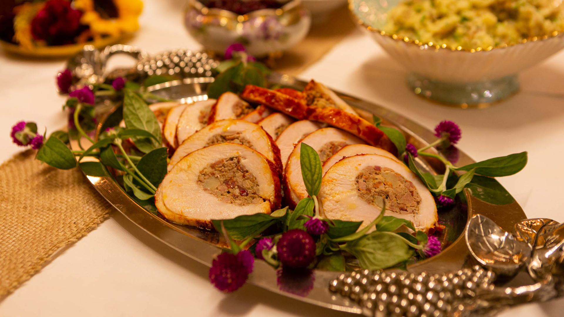 Thanksgiving dinner in Toronto   Turkey and stuffing at Leña Restaurante