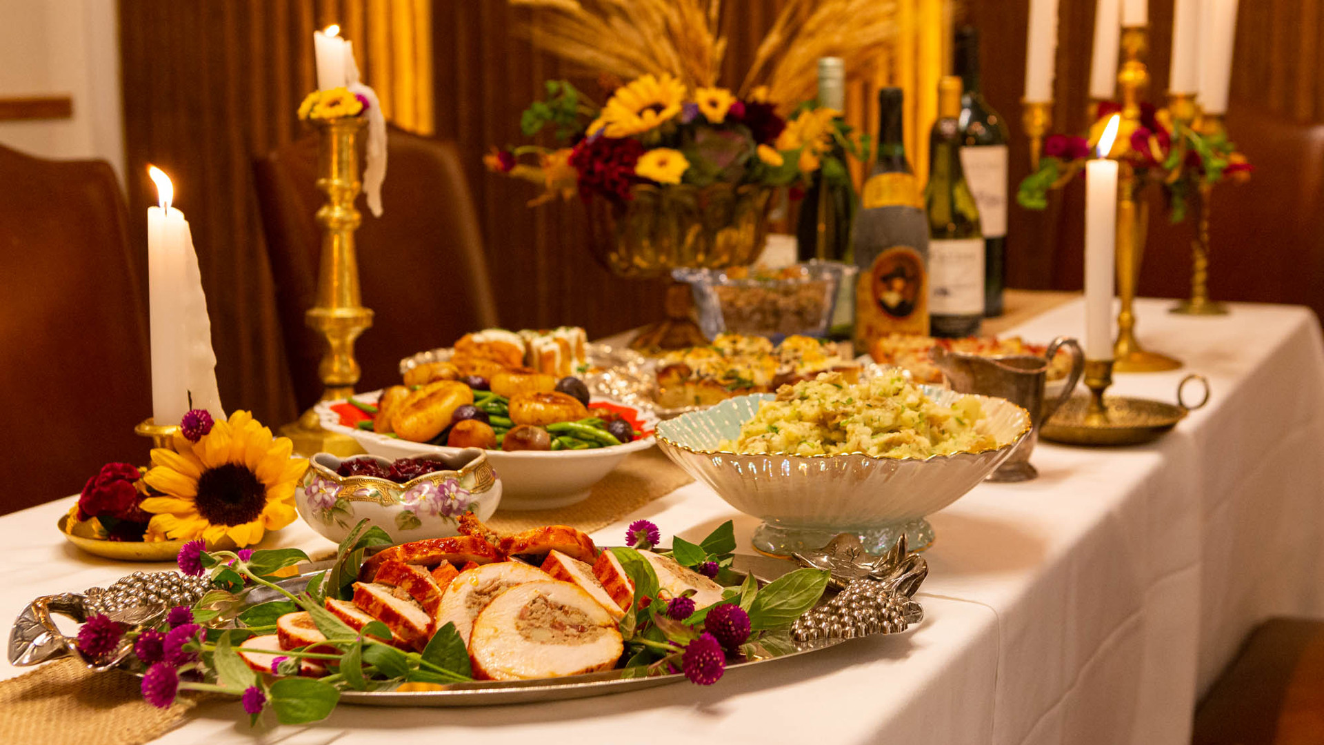 Thanksgiving dinner in Toronto   A spread of Thanksgiving food at Leña Restaurante