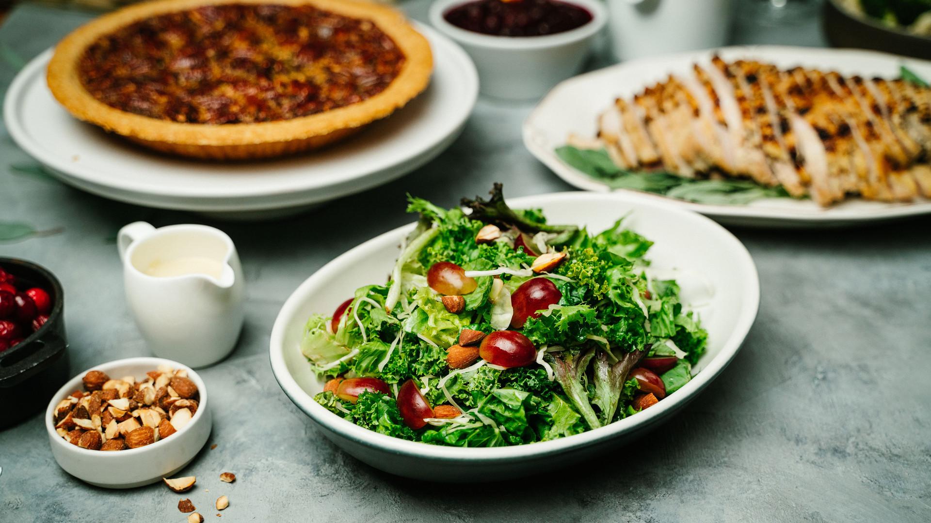 Thanksgiving dinner in Toronto   Fall kale salad at JOEY
