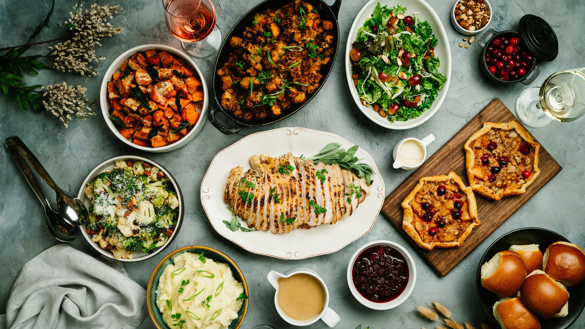 Thanksgiving dinner in Toronto   Oven roasted turkey and other Thanksgiving dishes at JOEY