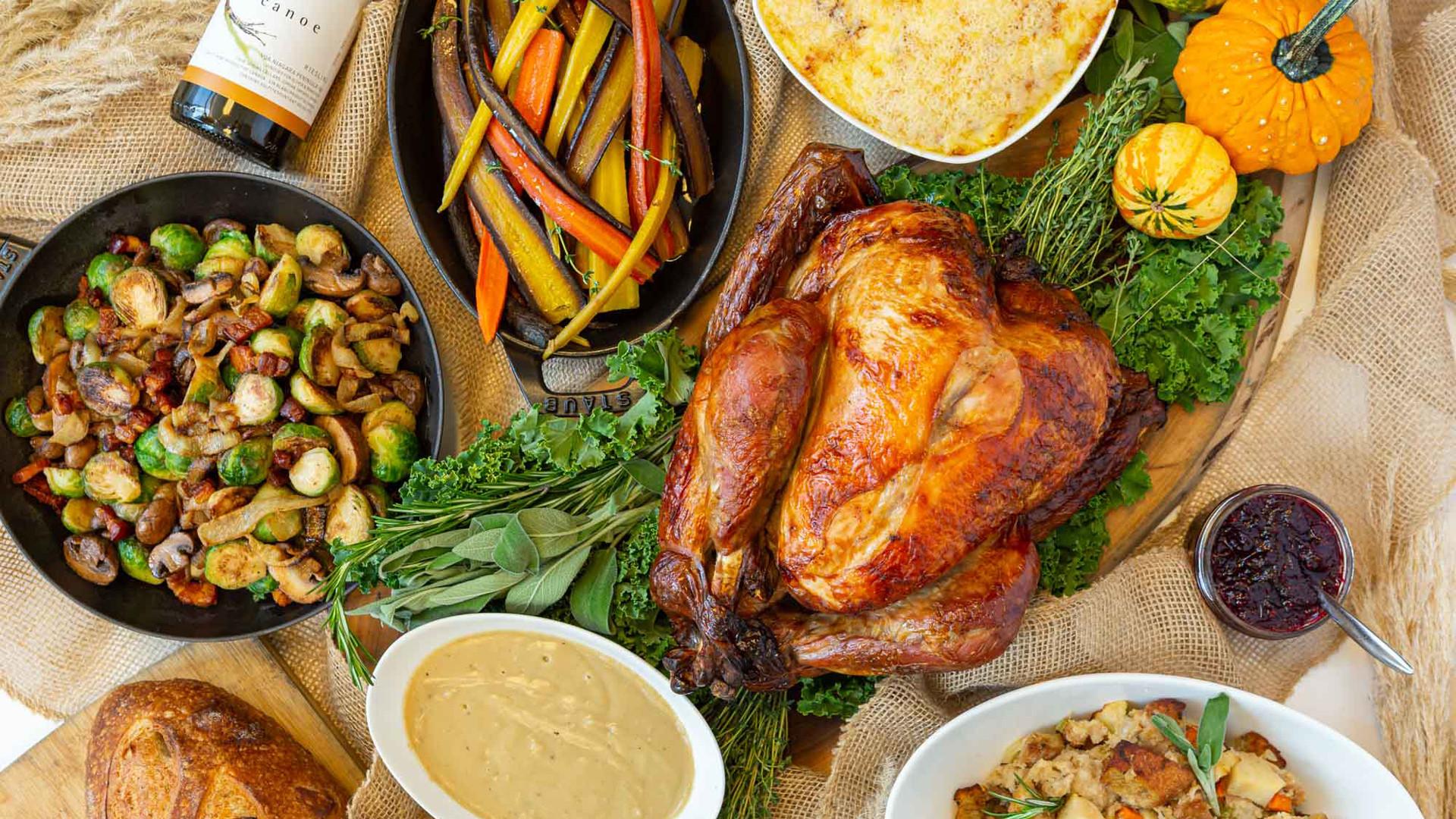 Thanksgiving dinner in Toronto   Canoe's Thanksgiving Feast for eight people