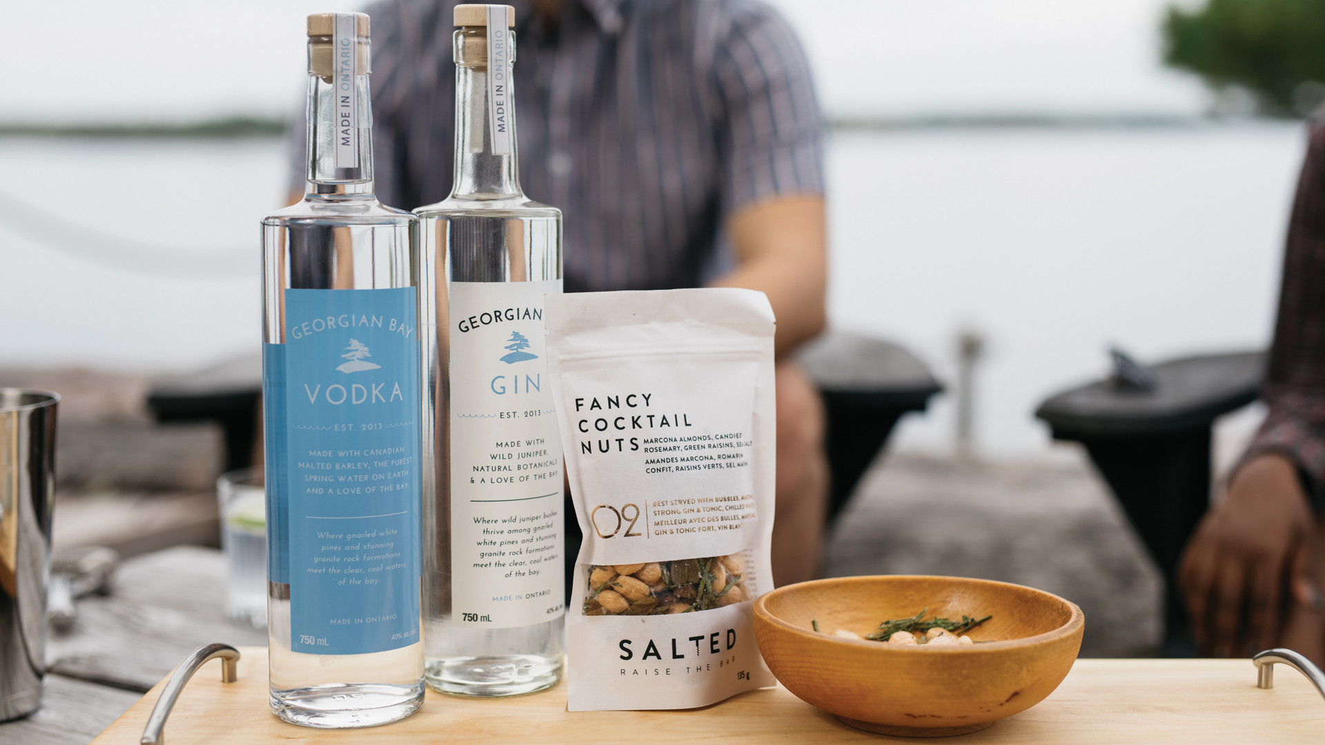 Win a smashing party pack from Georgian Bay Spirit Co. | Georgian Bay Gin and Vodka and assorted nuts