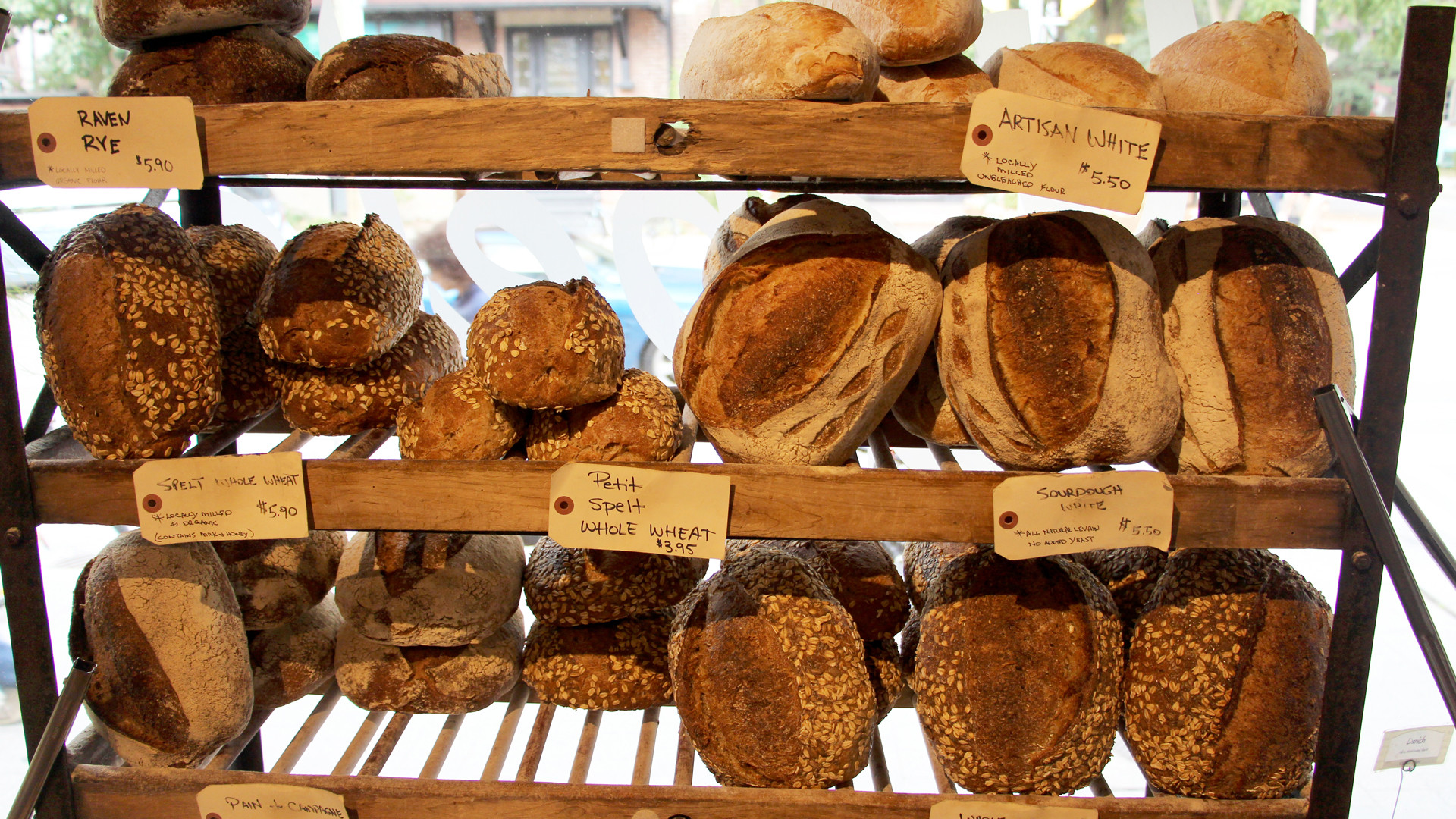 Mabel's bread at Fresh City Farms
