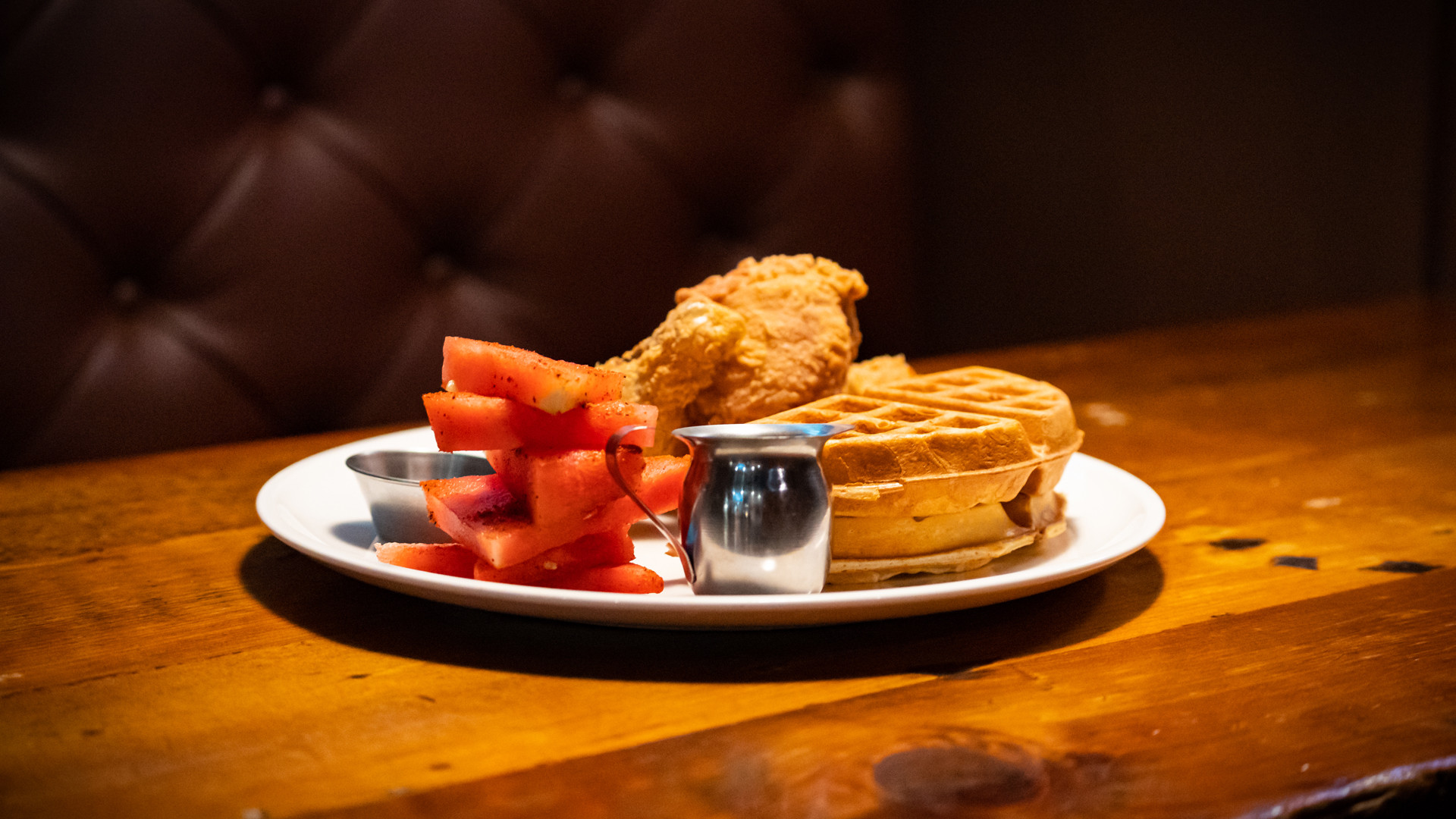 The best new restaurants in Toronto | Chicken and waffles at Prohibition Social House