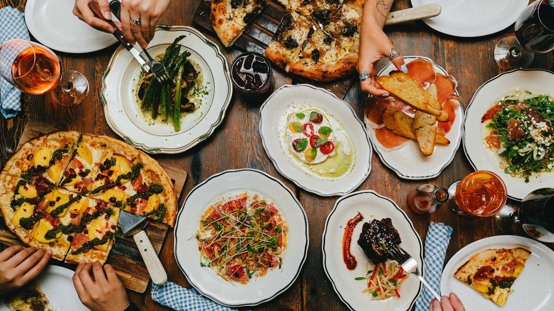 The best pizza in Toronto | A spread of pizza and other dishes at the Parlour on King West