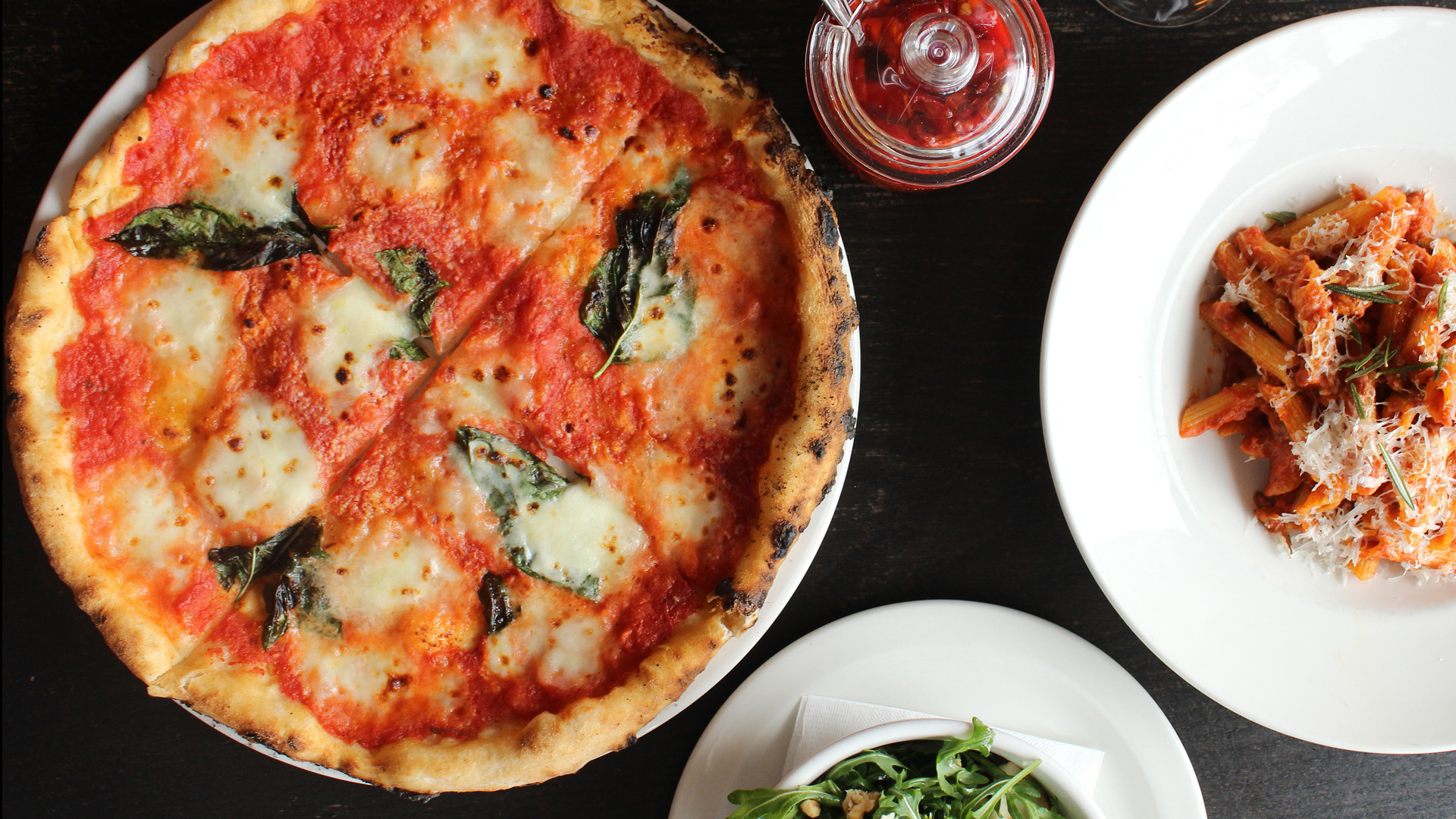 The best pizza in Toronto | A Margherita pizza and other Italian dishes at Pizzeria Libretto